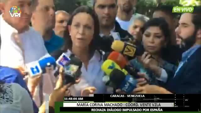 Venezuela - Mara Corina Machado rechaza dilogo entre Espaa y Gobierno venezolano - VPItv