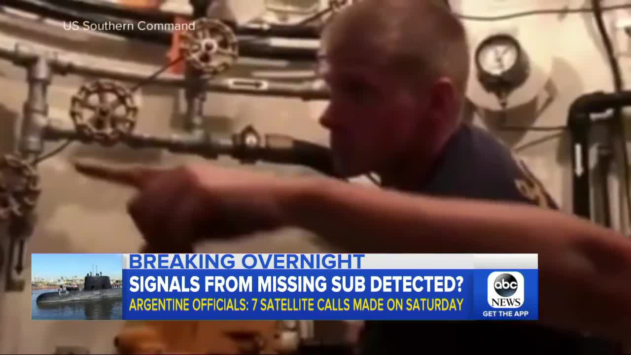 Search continues for missing Argentine submarine with 44 crew members onboard