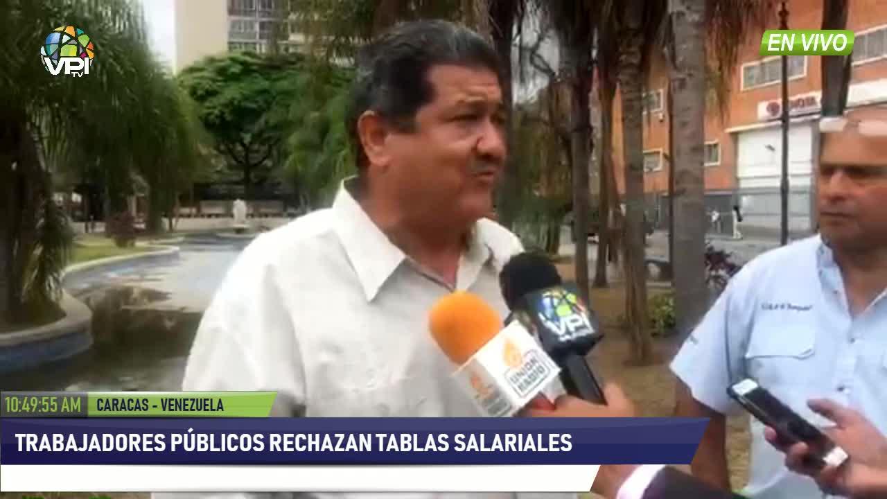 Venezuela - Trabajadores pblicos rechazaron tablas salariales impuestas por Maduro  - VPItv